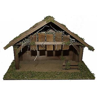 Nativity scene Stall TITUS L Wood handmade from Bavaria for figures up to 19 cm
