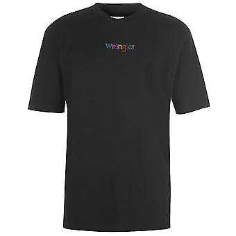 Wrangler Mens Gents Logo Crew Neck Cotton Short Sleeve Casual T Shirt Tee Top