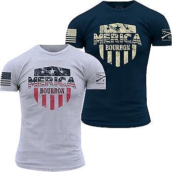 Grunt Style Merica Bourbon Shield T-Shirt