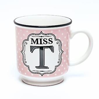 History & Heraldry Alphabet Mug - Miss T