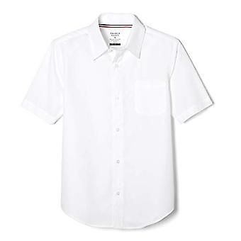 French Toast Little Boys' Krótki rękaw Poplin Dress Shirt, Biały, 7