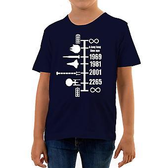 Reality glitch spaceship timeline kids t-shirt