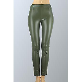 Kaki Sam-rone Women's Leather Leggings
