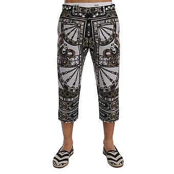 Dolce & Gabbana Multicolor Dragon Print Capri Pants