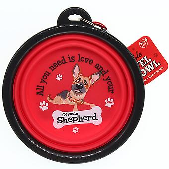 Wags & Whiskers Travel Pet Bowl - German Shepherd