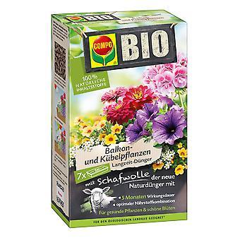 COMPO BIO Balcone e piante in vaso Fertilizzante a lungo termine con lana di pecora, 750 g