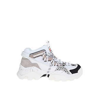 Kenzo F962sn300l6993 Women's Grey Leather Hi Top Sneakers