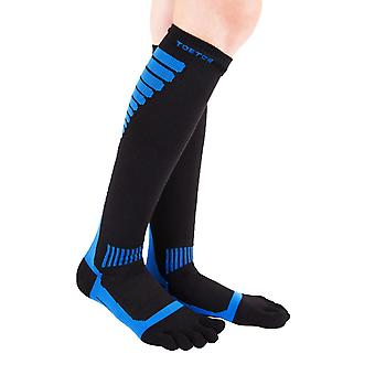 TOETOE Sports Compression Unisex Knee-High Toe Socks