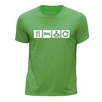 STUFF4 Boy's Round Neck T-Shirt/Eat Sleep Read Repeat//Reading/Green