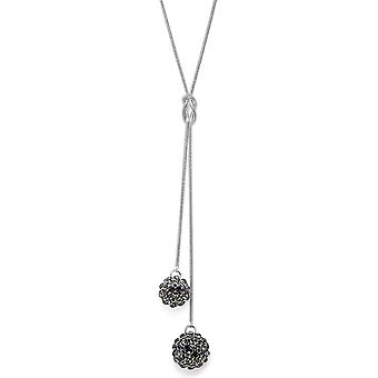 Crystal Mesh Ball Pendant Necklace PMB112.8