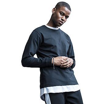 Cotton Addict Mens Long Sleeve Cuff Rib Long Sleeve Top