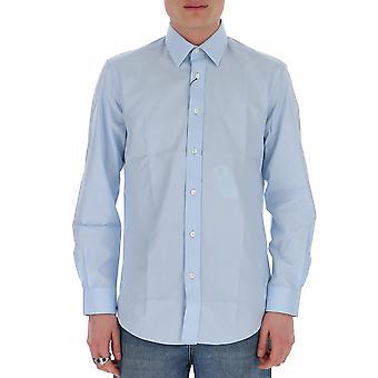 Burberry 8027134a1397 Men's Light Blue Cotton Shirt