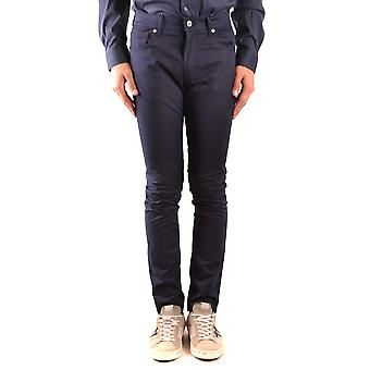 Moschino Ezbc015135 Men's Blue Cotton Pants