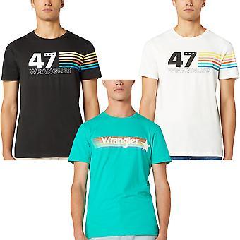 Wrangler hombres Rainbow Casual Regular Fit Crew Cuello camiseta de manga corta Top Camiseta