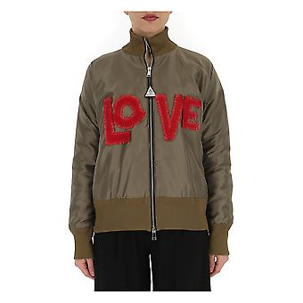 Moncler 4537705539jq828 Women's Grey Polyester Outerwear Jacket