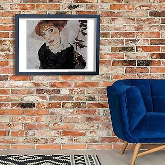 Egon Schiele - Portrait Close Poster Print Giclee