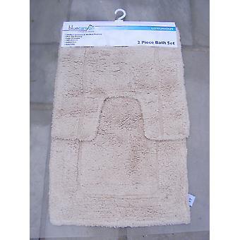כותנה קרם לאטה 100% מרחץ הכותנה וערכת השטיח הכן
