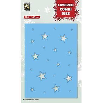 Nellie's Choice Layered Combi Die Joulutähdet (Layer C) LCDCS003 105x148 mm