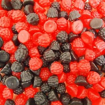 5 Bags of 200g Bags of Blackberry and Raspberry Gummy Sweets