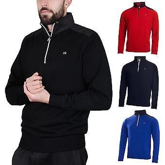Calvin Klein Golf Mens Extend Fodrad Merino 1/4 Zip Pullover Tröja