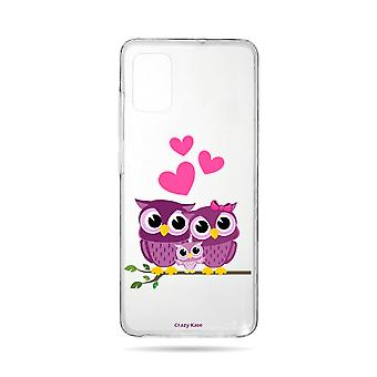Hull For Samsung Galaxy A71 Flexible Family Owl