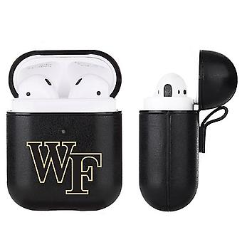Wake Forest Demon Deacons NCAA Fan Brander Zwart lederen AirPod Case