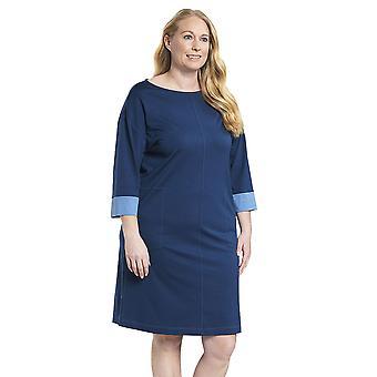 Rösch 1194523-11726 Women's Curve Faded Denim Blue Nightdress