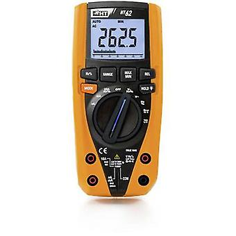 HT Instruments HT62 Handheld multimeter Calibrated to (ISO standards) Digital CAT III 1000 V, CAT IV 600 V Display (counts): 6000