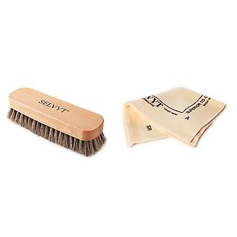 Selvyt Horsehair Neutral Buffing Brush and SR Polishing Cloth