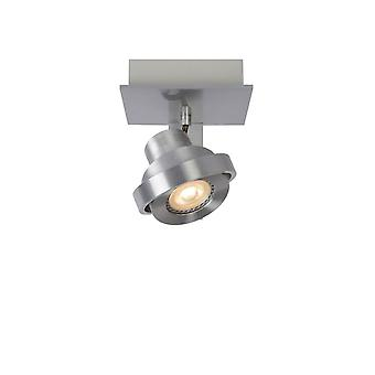 Lucide Landa Modern Square Aluminum Satin Chrome Ceiling Spot Light