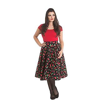 Hell Bunny Black Sweetie 50s Rok 3XL