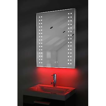 Digital klokke Slim speil med Under belysning, Demist & sensoren k186w