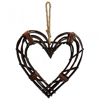 Gisela Graham Twig Frame Heart Wreath