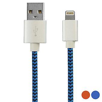 USB para cabo lightning KSIX 1 m/Laranja