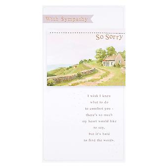 Hallmark With Sympathy So Sorry Sympathy Bereavement Card 25490665