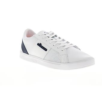 Ellesse LS-80  Mens White Leather Low Top Lifestyle Sneakers Shoes