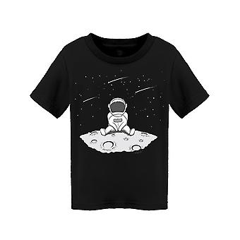 Astronaut Stargazing On The Moon Tee Toddler's -Image by Shutterstock