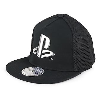 Playstation Metallic Logo Gutter Snapback Cap