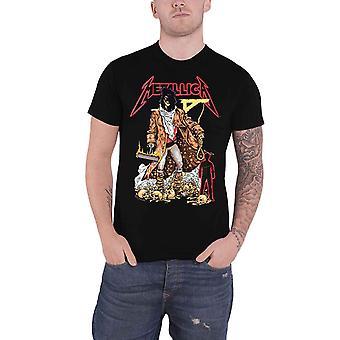 Camiseta do Metallica O Indogável Executor Banda Logo novo Official Mens Black