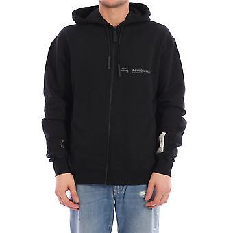 En kall vägg Acwmw002whlblak Män's Black Cotton Sweatshirt