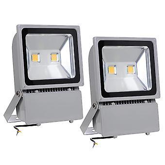 Yescom 100W LED Flood Light 3000K Warm White IP65 Waterproof Outdoor Work Light Security Night Lamp for Garden, 2 Pack