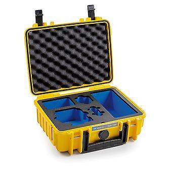 B&W GoPro Case Type 1000 voor GoPro Hero 8, geel met foam insert