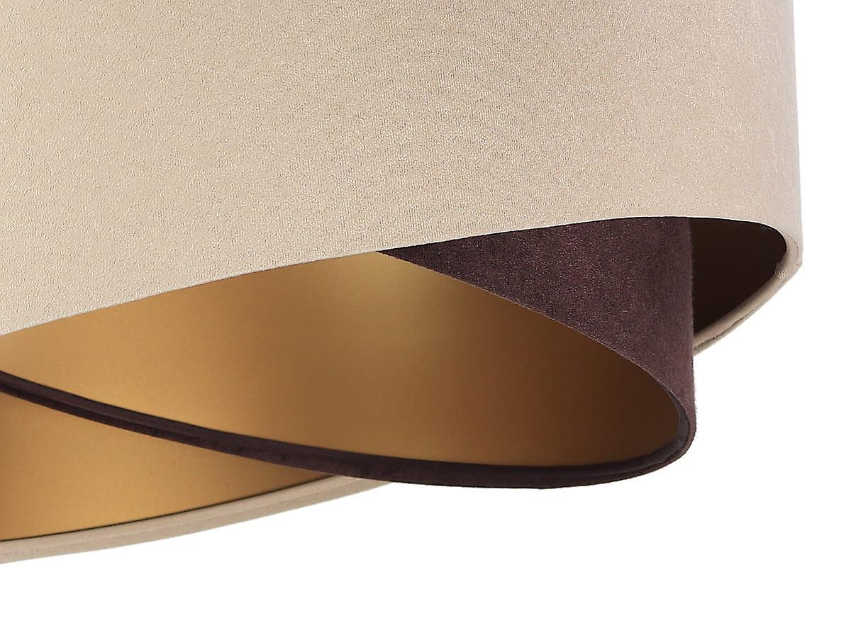 Pendelleuchte Hängeleuchte Kinga P Velours beige, brown & gold Ø 50 cm