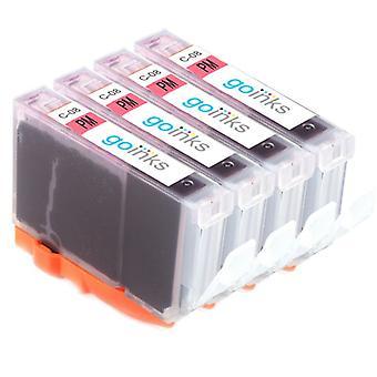 4 Photo Magenta -mustekasettia Canon CLI-8PM -yhteensopivan/ei-OEM-laitevalmistajan korvaamiseksi Go Inksistä