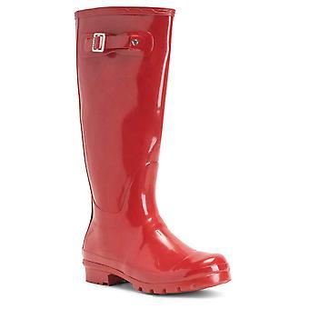 Botas de las mujeres originales de alto brillo invierno impermeable Wellies Rain Wellington botas
