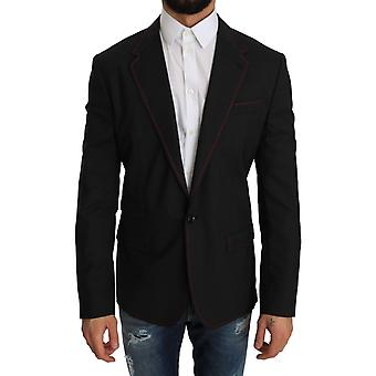 Dolce & Gabbana Gray Wool Slim Blazer Jacket