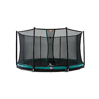 BERG Favorit InGround 380 12.5ft Trampoline Green With Safety Net Comfort