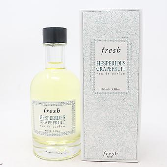 Hesperides Grapefruit por Fresh Eau De Parfum 3.3oz/100ml Spray Novo com Caixa