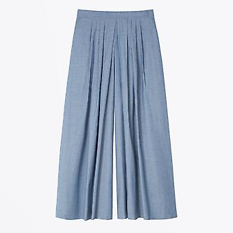 PS Paul Smith  - Chambray Pleat Culottes - Blue