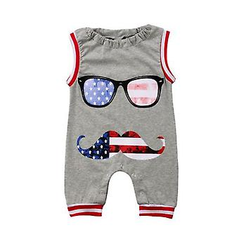Baby Boy Cotton Beard Glasses Romper